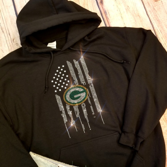 023f76ab New Women's Green Bay Packers NFL Hoodie Bling